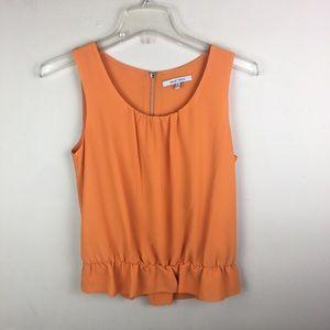 Naked Zebra orange peplum blouse